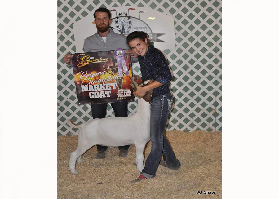 18 Shippensburg Fair, Reserve Grand Champion, Shown by Killiann George Champ