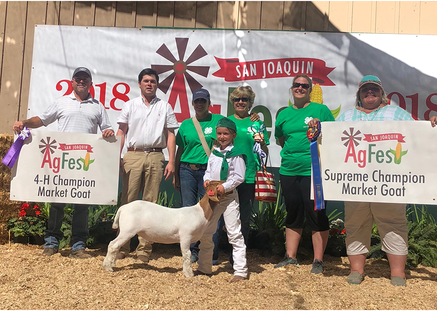 2018 AgFest, Supreme Champion Market Goat, Shown by Emma Graham copy