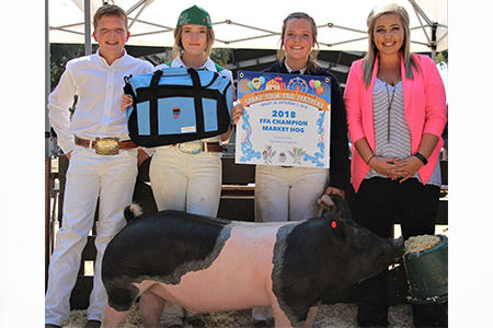 18 Monterey County Fair, Reserve Grand Champion Market Hog, Shown by Taryn Wright Test