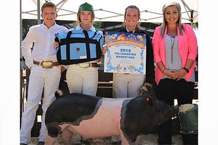 18 Monterey County Fair, Reserve Grand Champion Market Hog, Shown by Taryn Wright Test