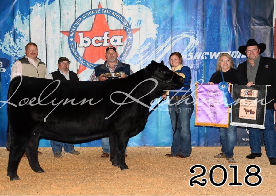 18 Brazoria County Fair, Reserve Grand Champion, Shown by Alyssa Jacobs Champ