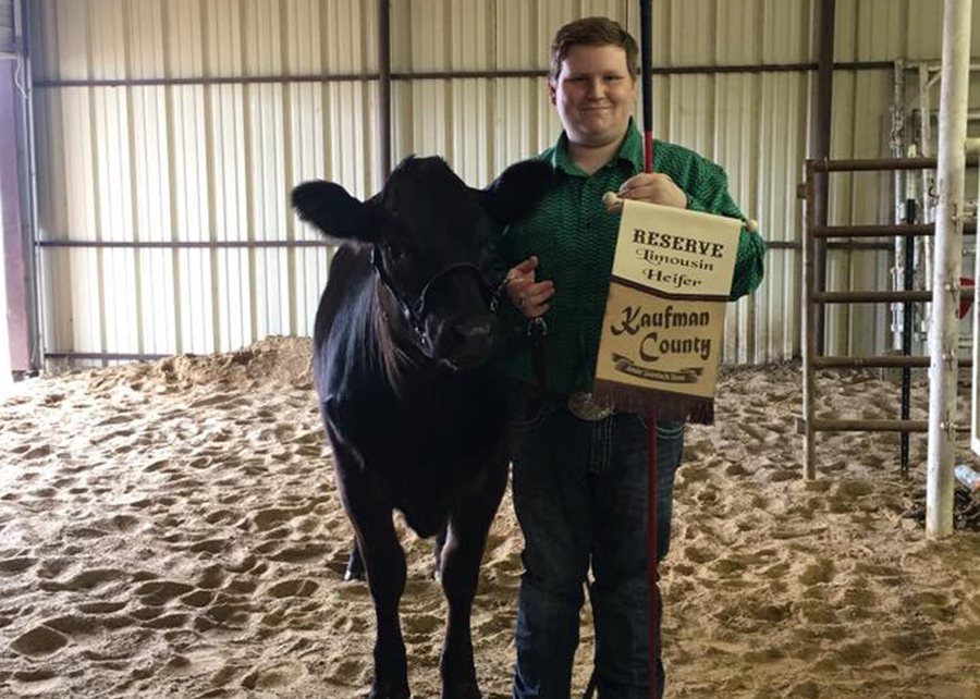 2018 Kaufman County Livestock Show, Reserve Grand Champion, shown by Dakota Dunn