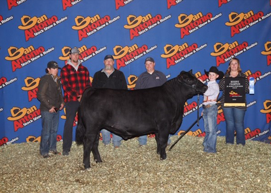19 San Antonio Junior Livestock Show, Reserve Grand Champion Angus Steer, shown by Tye Thompson