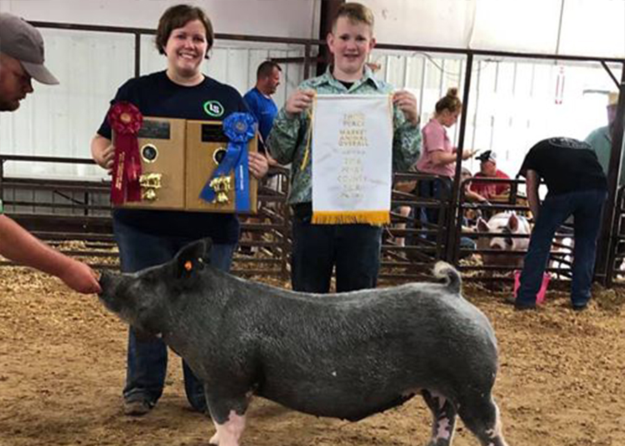 2019 Perry County Fair, 3rd Overall Market Hog, Shown by Patrick George