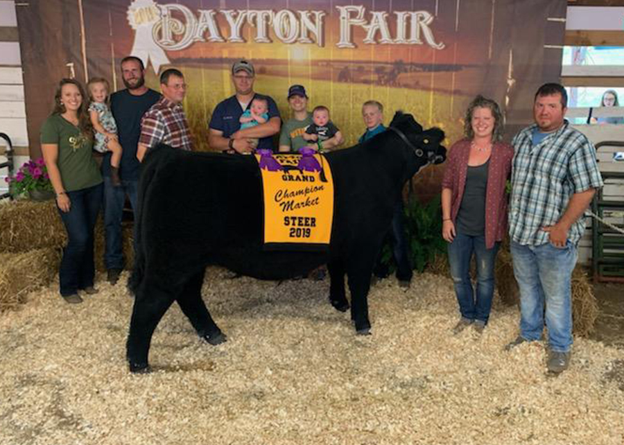 2019 Dayton Fair, Grand Champion Market Steer, Shown by Tim Barrett-champ