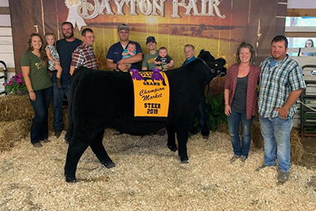 2019 Dayton Fair, Grand Champion Market Steer, Shown by Tim Barrett-test