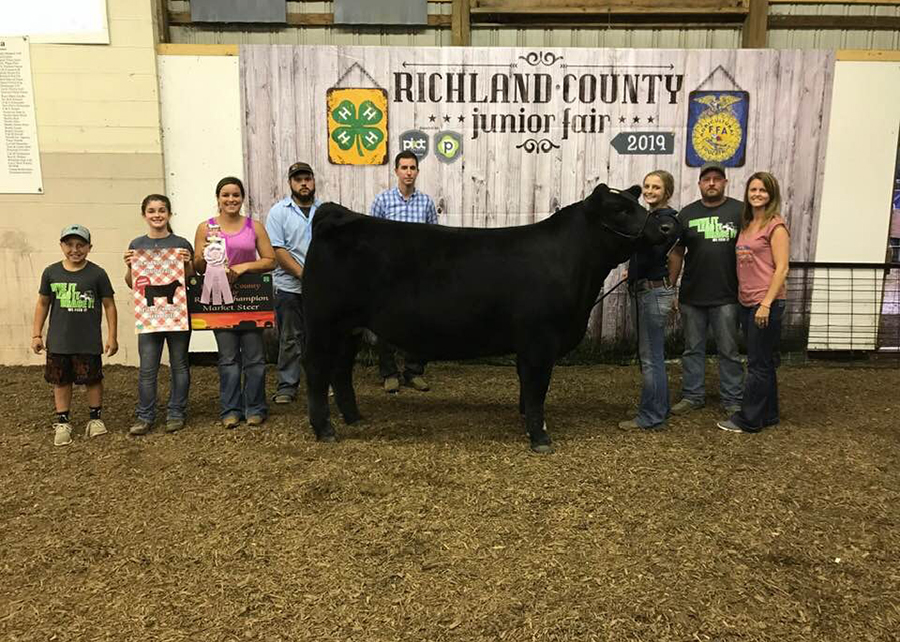 2019 Richland County Junior Fair, Reserve Grand Champion Overall Beef Steer, Shown by Hayden Williams